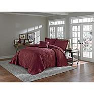 Cannon Burgundy Bedspread at Kmart.com