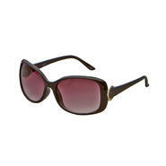 Studio S Women's Oversized Sunglasses Brown with Gold Hoop at Kmart.com