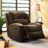 Oxford Creek Lotso Dark Chocolate Champion Microfiber Recliner Chair at Kmart.com