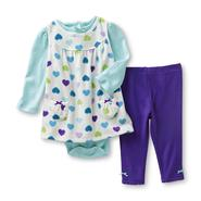 Small Wonders Infant Girl's 3-Piece Jumper Set - Hearts at Kmart.com