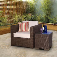 Atlantic Bermuda Brown Synthetic Wicker Patio Seating Set with Off-White Cushions at Sears.com