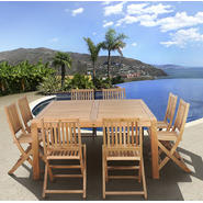 Amazonia Seoul 9 Piece Teak Wood Square Patio Dining Set at Kmart.com