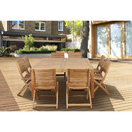 Amazonia Cabana 9 Piece Square Teak Wood Patio Dining Set at Kmart.com