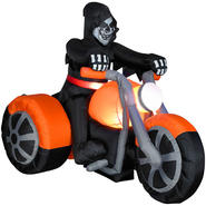 Gemmy Halloween Airblown Reaper on 3 Wheeler Large at Kmart.com