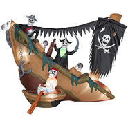 Gemmy Halloween Airblown Skeleton Pirates Shipwreck at Kmart.com