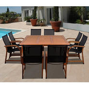Amazonia Syracuse Eucalyptus 9 Piece Square Patio Dining Set at Kmart.com