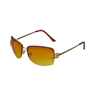 Studio S Women's Rimless Sunglasses with Gold Detailing at Kmart.com
