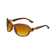 Studio S Women's Oversized Fashion Sunglasses Brown with Circular Gold Mount at Kmart.com
