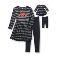What A Doll Girl's Top, Leggings & Doll Outfit - Striped at Kmart.com