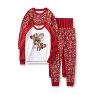 Joe Boxer Girl's 2-Pairs Pajamas - Deer