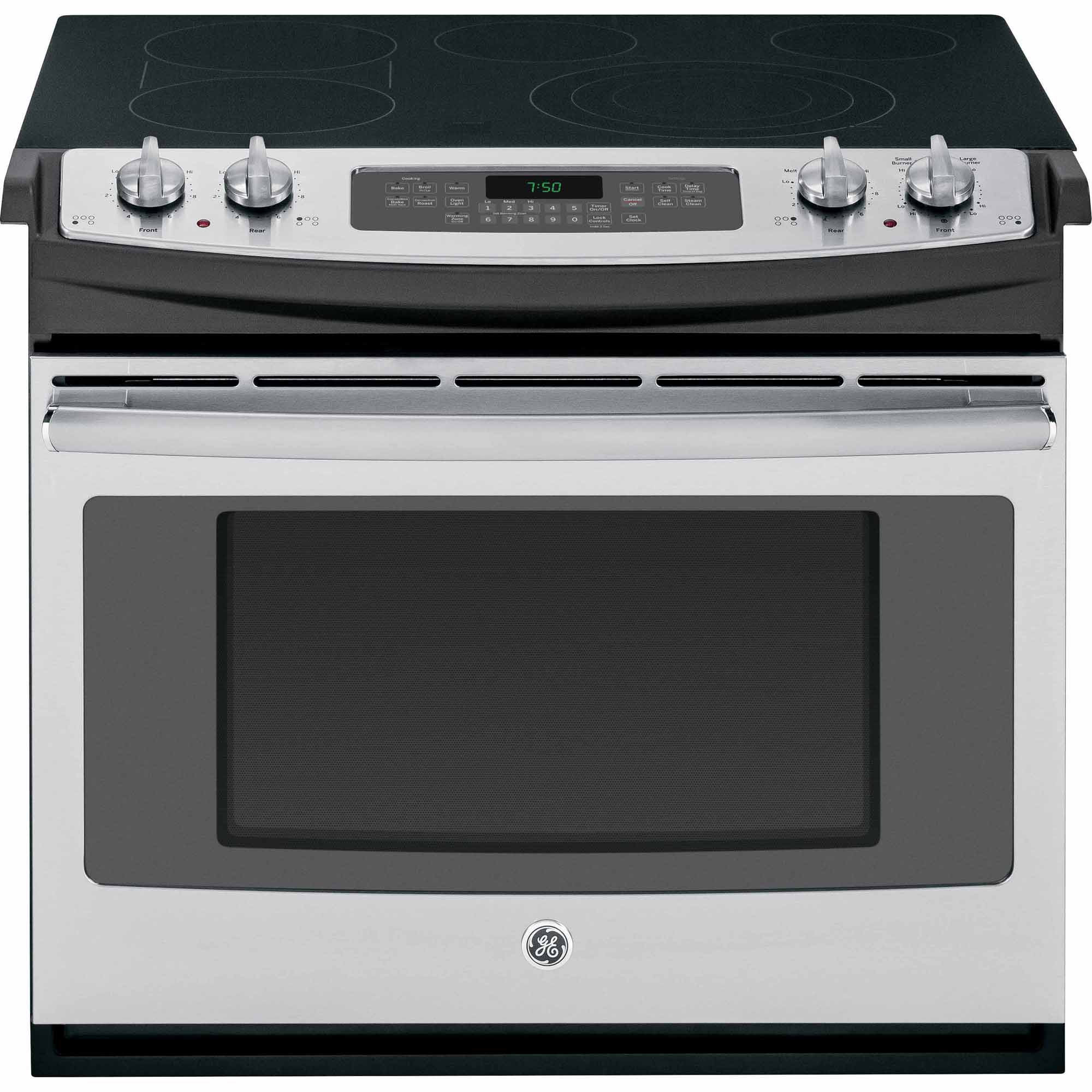 "GE Appliances JD750SFSS 30"" Drop-In Electric Range w/ Convection - Stainless Steel"