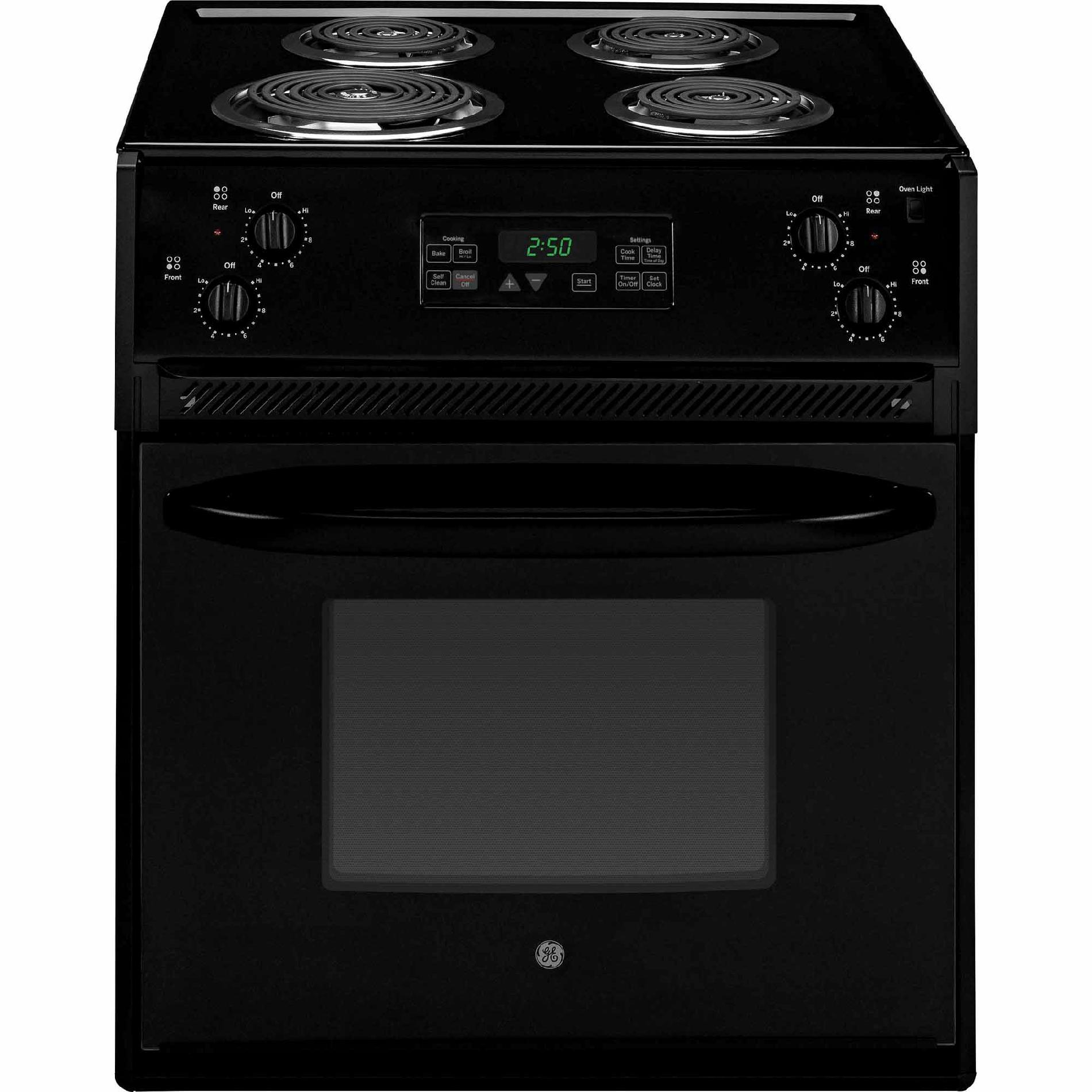 GE Appliances JM250DFBB 27 Drop-In Electric Range - Black