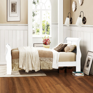 Oxford Creek French styled White Full-size Sleigh Bed at Kmart.com