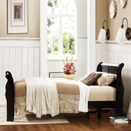 Oxford Creek French styled Black Twin-size Sleigh Bed at Kmart.com