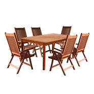 Vifah Balthazar 7pc Dining Set with 5-Foot Table and 6 Large Reclining Chairs V98SET21 at Kmart.com
