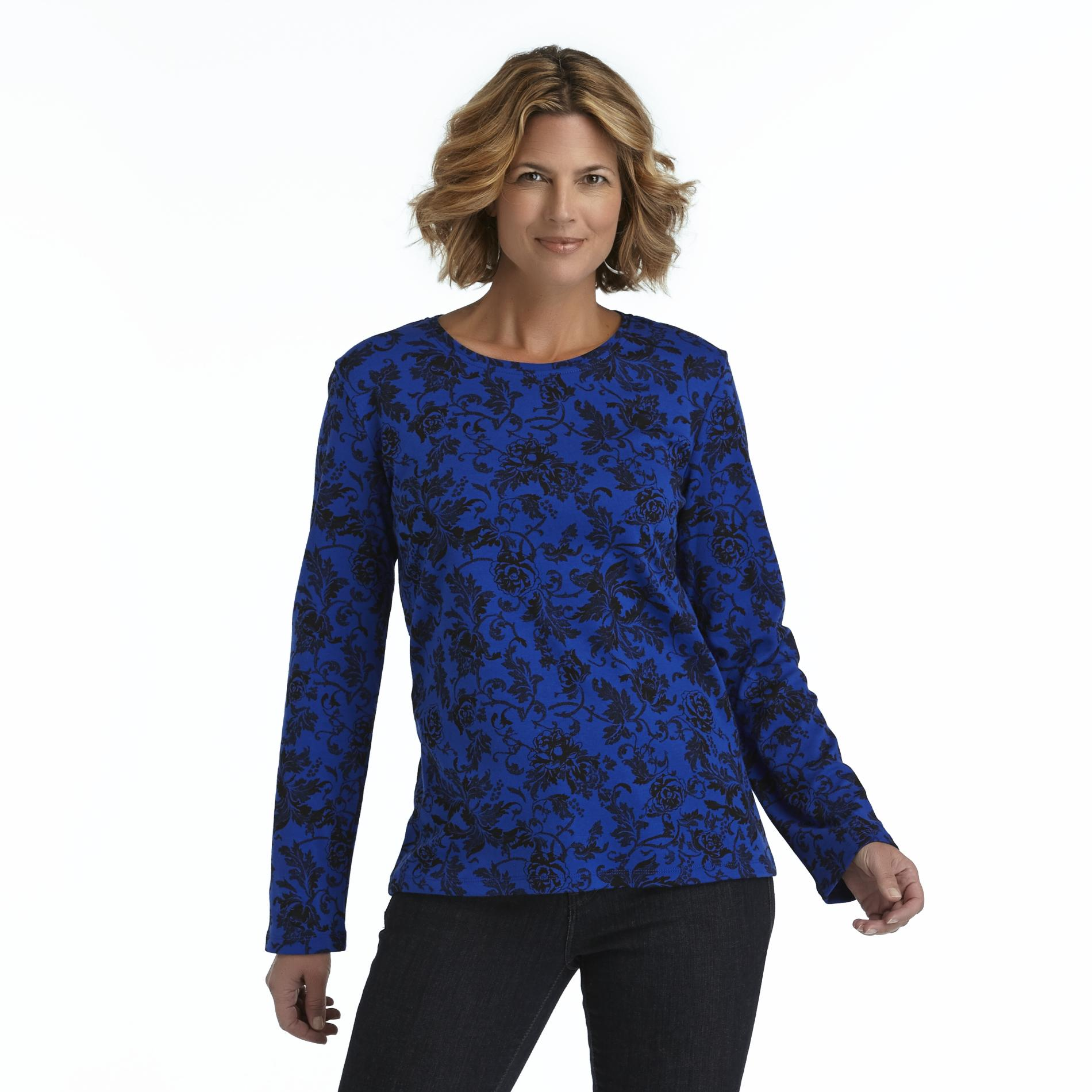 Laura Scott Women's Long-Sleeve T-Shirt - Floral & Paisley at Sears.com