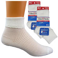 MediPeds Women's Diabetic Turn Cuff Socks - 4 Pr at Kmart.com