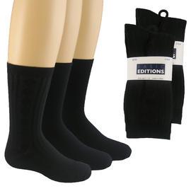 Basic Editions Boys Argyle Flat Knit Fine Rib Dress Socks - 3-Pairs at Kmart.com