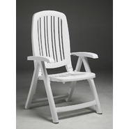 Nardi Salina Commercial Grade 5 Position Folding Chairs, White, 2/pk at Sears.com