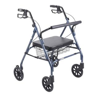 Drive Medical Heavy Duty Bariatric Rollator Walker with Large Padded Seat