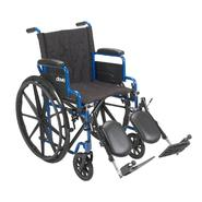 Drive Medical Blue Streak Wheelchair with Flip Back Desk Arms and Elevating Leg Rests at Kmart.com