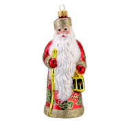 "Kurt S. Adler 6.1"" David Strand Glass Russian Winterberry Santa Ornament at Kmart.com"