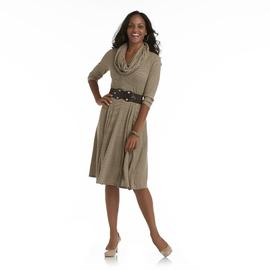 Robbie Bee Women's Knit Dress & Belt & Infinity Scarf at Sears.com