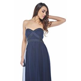 AX Paris Women's Chiffon Strapless Jewel Navy Maxi - Online Exclusive at Kmart.com
