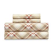 Cannon 4-Piece Micro Flannel Bed Sheet Set - Tan Plaid at Kmart.com