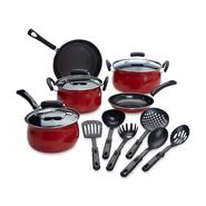 Essential Home 14-Piece Red Non-stick Cookware Set at Kmart.com