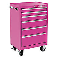 "The Original Pink Box 26"" 6 Drawer 18G Steel Rolling Cabinet, Pink at Sears.com"