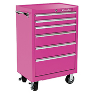 "The Original Pink Box 26"" 6 Drawer 18G Steel Rolling Cabinet, Pink at Kmart.com"