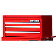 "Craftsman 27"" 3-Drawer Ball Bearing Slides Intermediate Chest Red at Craftsman.com"
