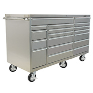 "Viper Tool Storage 72"" 18 Drawer PRO Series 304 Stainless Steel Rolling Cabinet at Sears.com"