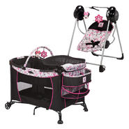 Disney 's Minnie Mouse Care Center Play Yard & Sway 'N' Play Swing Bundle at Kmart.com