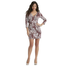 Sofia by Sofia Vergara Women's V-Neck Dress - Leopard Print- Online Exclusive at Kmart.com