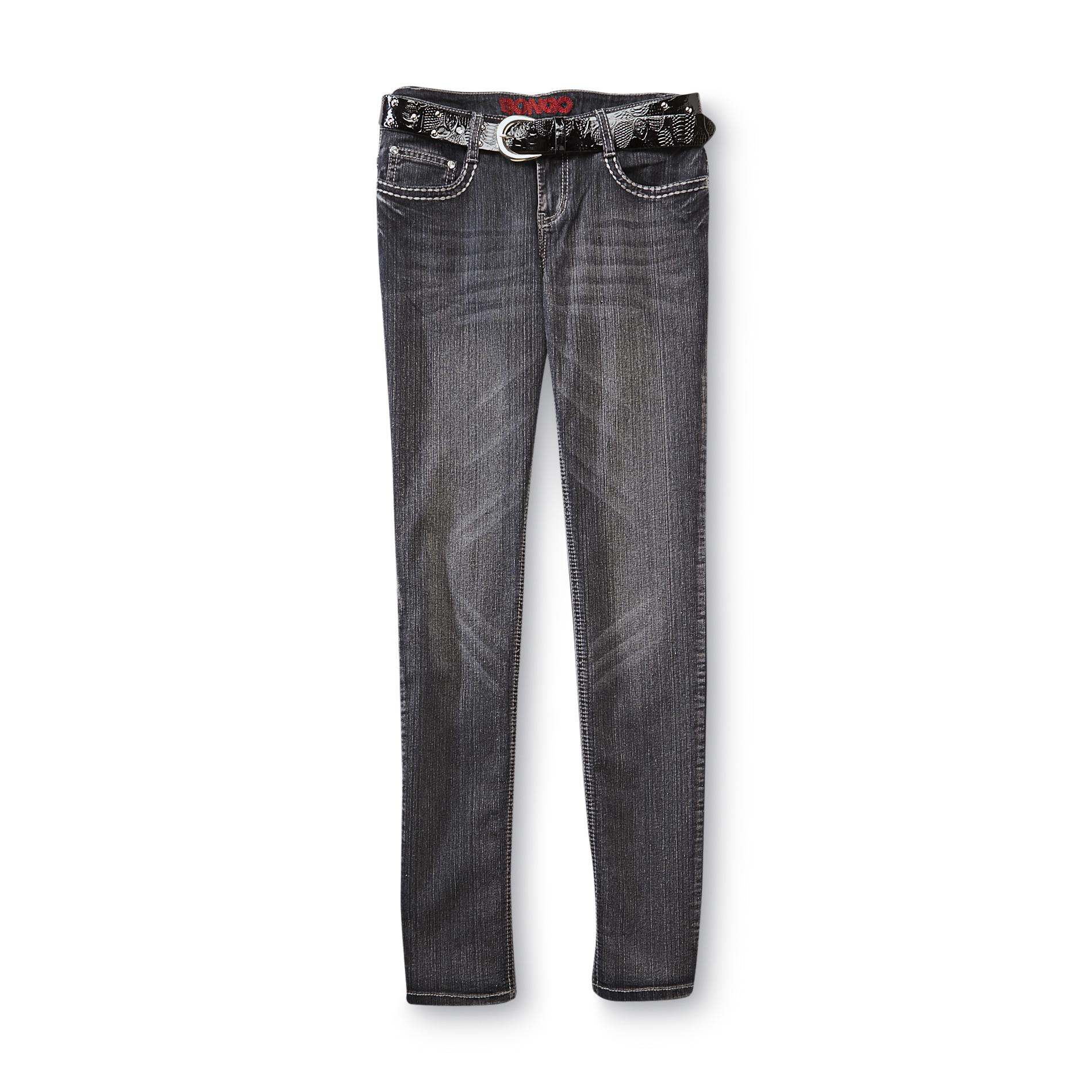 Bongo Junior's Belted Skinny Jeans - Whisker Wash at Sears.com