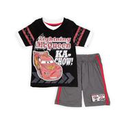 Disney Baby Toddler Boy's Graphic T-Shirt & Shorts - Lightning McQueen at Kmart.com