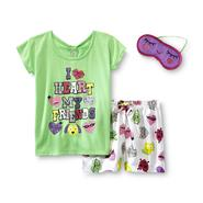 Joe Boxer Girl's Glitter Pajamas & Sleep Mask - I Heart My Friends at Kmart.com