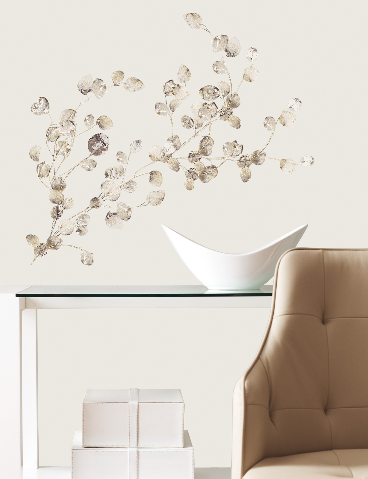 RoomMates Silver Dollar Branch Add On Peel & Stick Wall Decals
