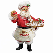 "Kurt S. Adler Kurt Adler 10"" Fabriche' Gingerbread Santa Christmas Decoration at Kmart.com"