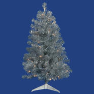"Vickerman 8' x 53"" Silver Tree 600CL Lts 1673T at Kmart.com"