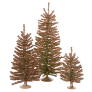 "Vickerman 12""/18""/24"" Mocha Mini Tree Set 391T at Kmart.com"