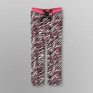 Joe Boxer Junior's Ribbed Velour Sleep Pants - Zebra Print at Kmart.com