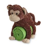 Brown and Green Stuffed Monkey and Blanket Set at Kmart.com