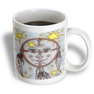 3dRose - Cindy Thorrington Haggerty Earth Animals Spirits - Medicine Wisdom Of Grandmother Blue Moon - 15 oz mug PartNumber: 011V006390194000P KsnValue: 6390194 MfgPartNumber: mug_3611_2