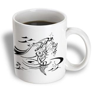 3dRose - Milas Art Aquatic - Fairy Tail Fish - 11 oz mug PartNumber: 011V006386389000P KsnValue: 6386389 MfgPartNumber: mug_4470_1
