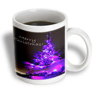 3dRose - Yves Creations Pretty Christmas Tree - Pretty Christmas Tree  Merry Christmas in Purple With White Text - 15 oz mug at Kmart.com