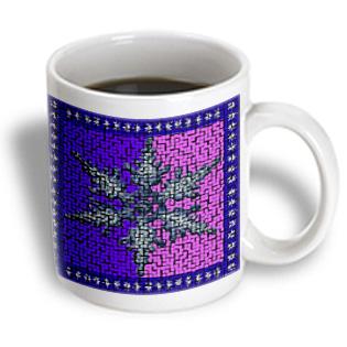 3dRose - Sandy Mertens Winter Designs - Large Snowflake Tile in Blue and Purple - 11 oz mug PartNumber: 011V006386390000P KsnValue: 6386390 MfgPartNumber: mug_6227_1