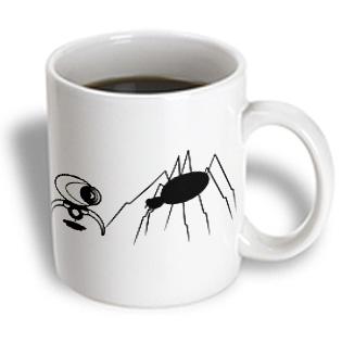 3dRose - R McDowell Graphics Humor - Spider Made Me Pee - 15 oz mug PartNumber: 011V006384379000P KsnValue: 011V006384379000 MfgPartNumber: mug_13237_2